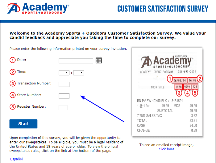 Academy Survey form