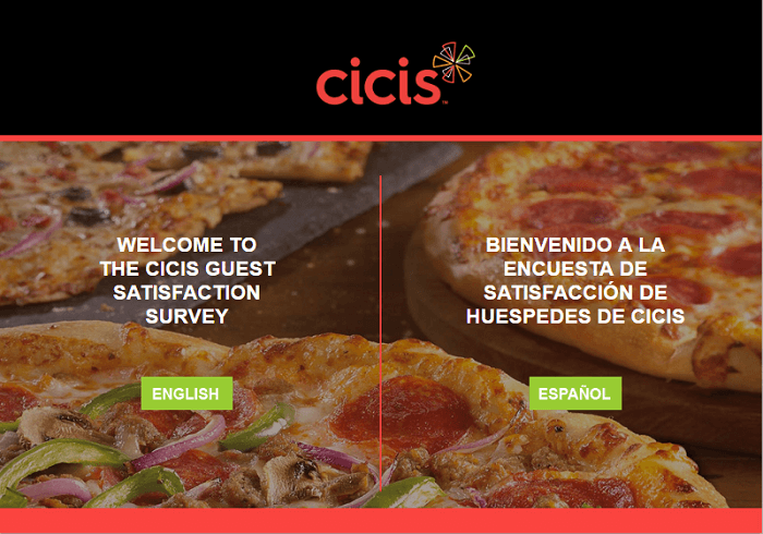 CiCi's Pizza Survey form