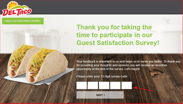 Del Taco Survey.form