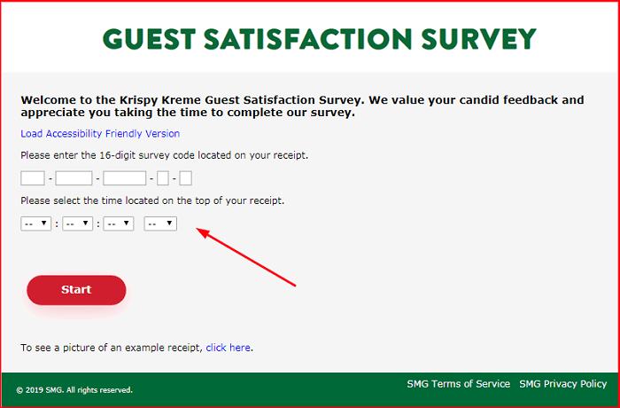 Krispy Kreme Survey form