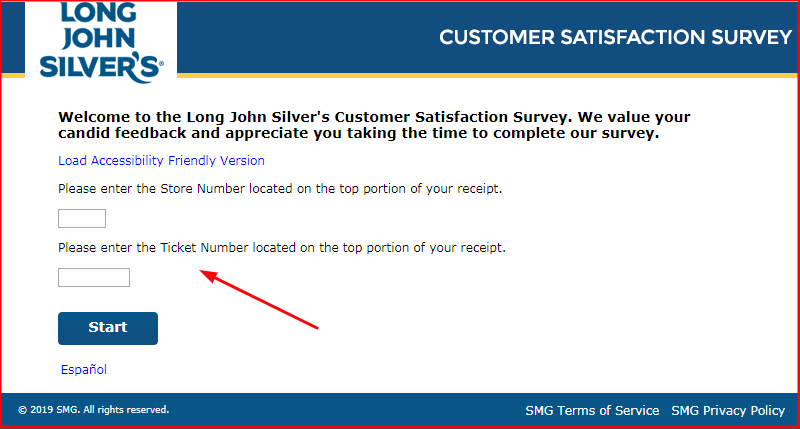 Long John Silver's Survey.form