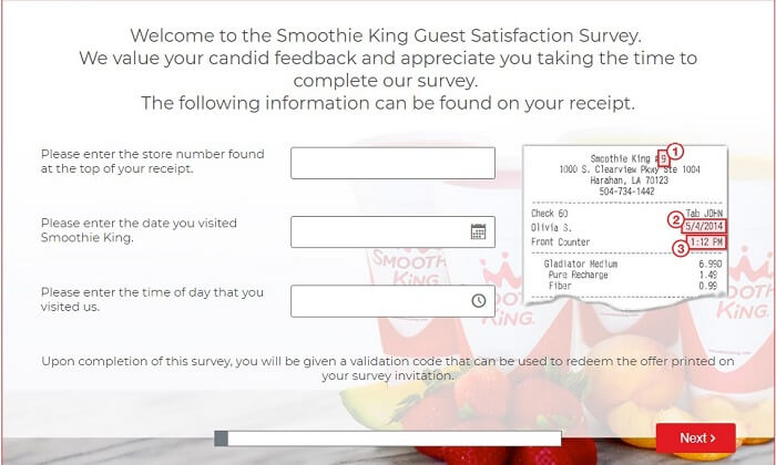 Smoothie King Survey.form