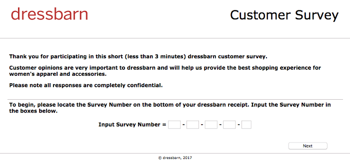 Dressbarn Survey.form