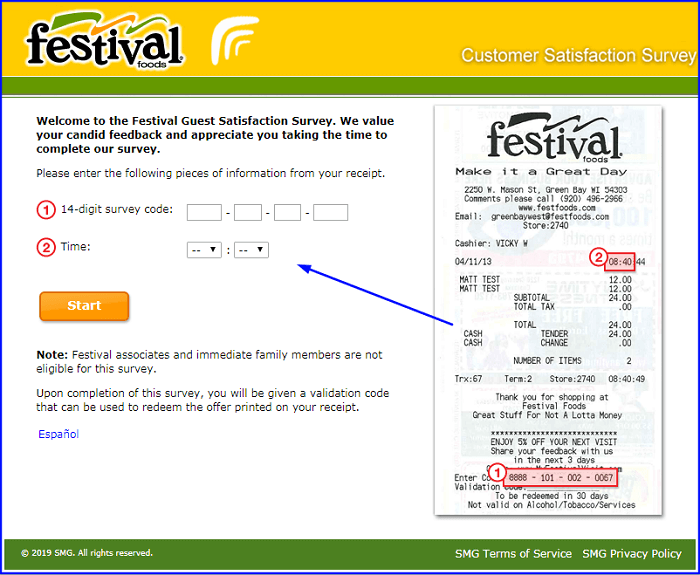 Festival Foods Survey form