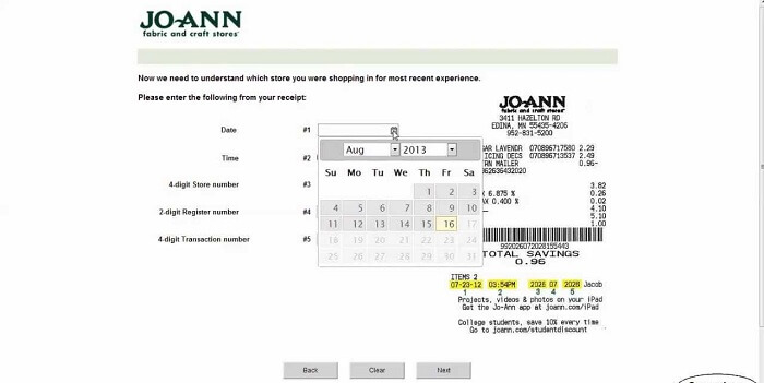 Jo Ann Survey form