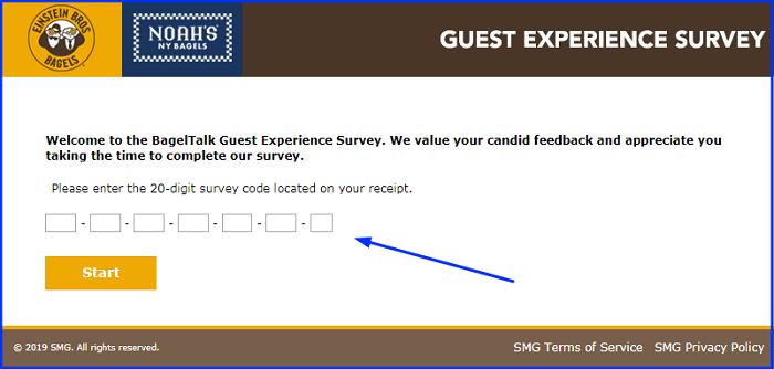 Noah's Bagels Survey form