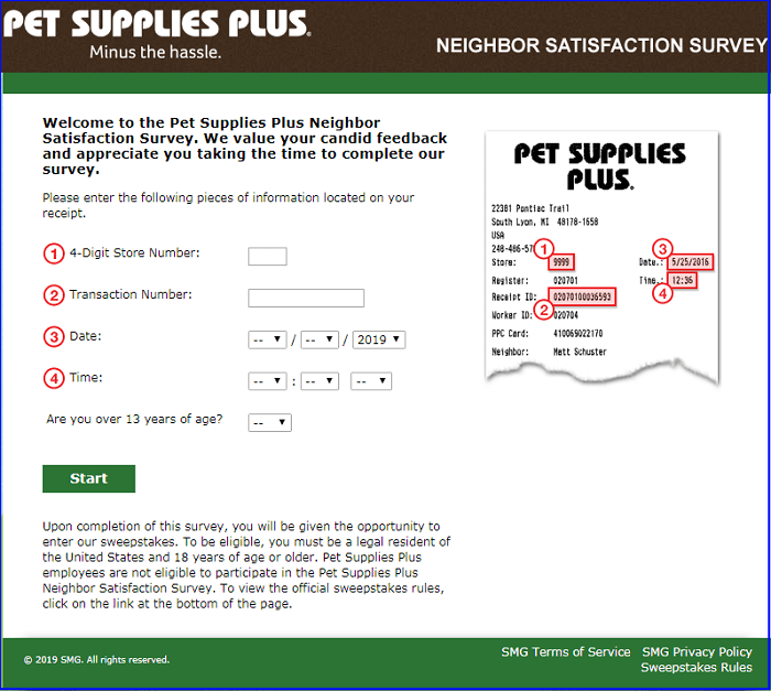Pet Supplies Survey form