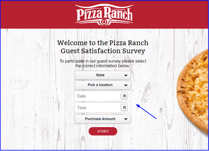 Pizza Ranch Survey form