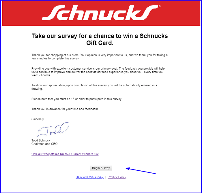 Schnucks Survey.form