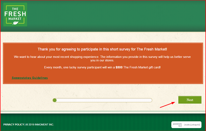 TheFreshMarket Survey form