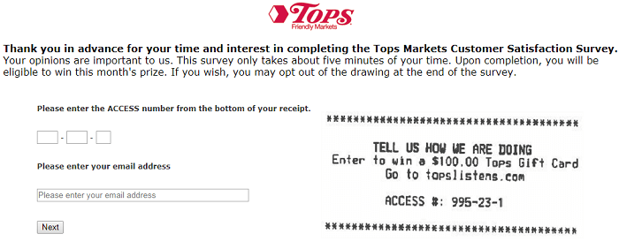 Tops Friendly Markets Survey.form
