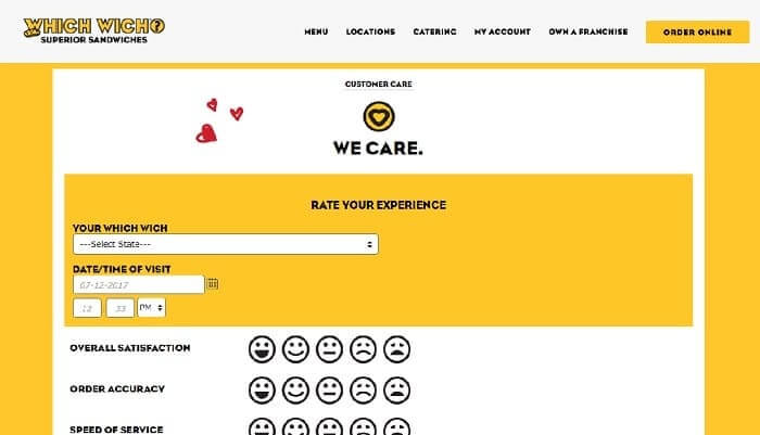 Whichwich Survey form