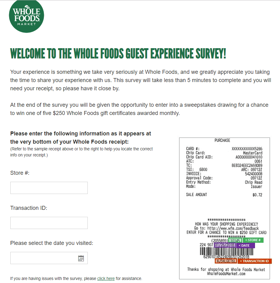 Whole Foods Market Survey.form