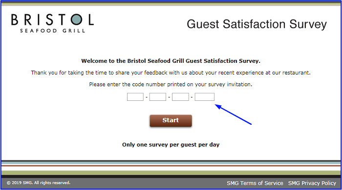 Bristol Seafood Grill Survey form