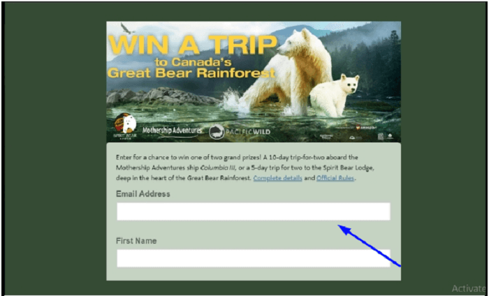 Great Bear Rainforest survey form