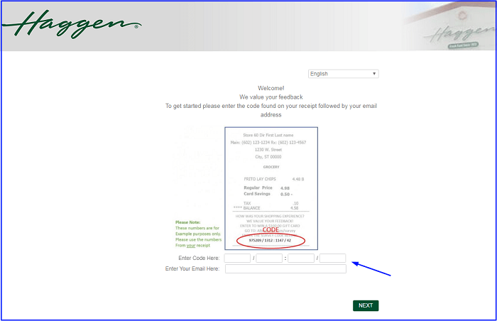Haggen Survey form