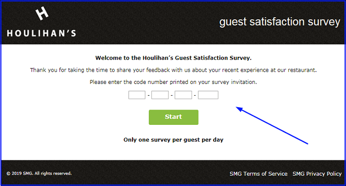 Houlihans Survey form