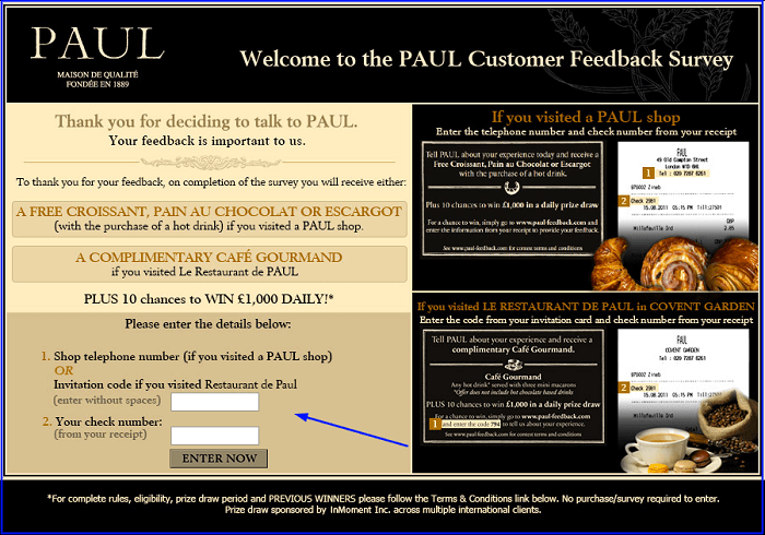 Paul Survey form