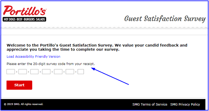Portillo's Survey form
