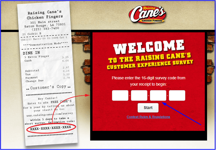 Raising Cane's Survey.form