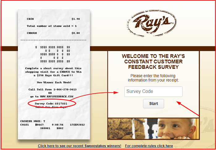 Rays Constant Survey form