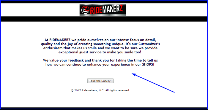 Ridemakerz Survey form