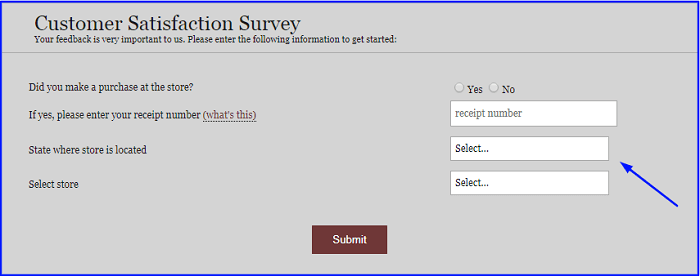 Rural King Survey form