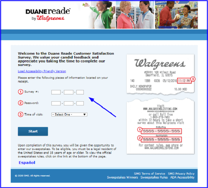 Duane Reade Customer Satisfaction Survey form