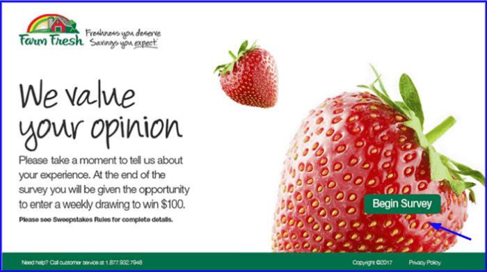 Farm Fresh Customer Satisfaction Survey form