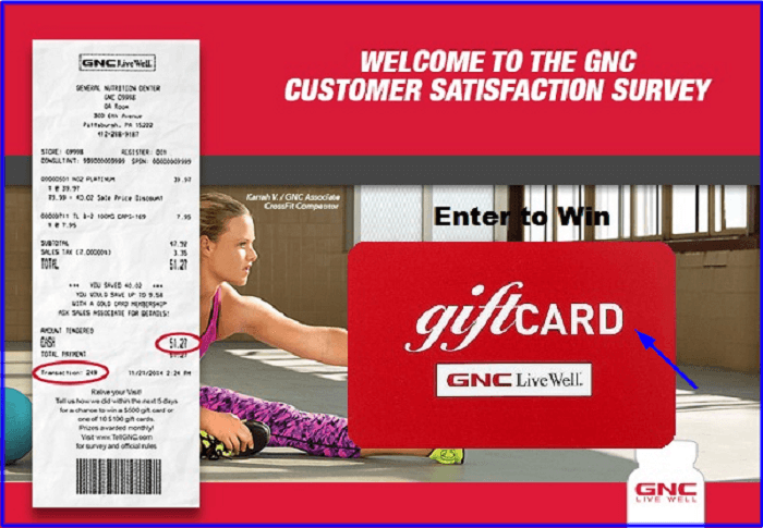 GNC Customer Satisfaction Survey form